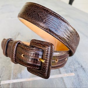 HAROLD POWELL Women's Medium LEATHER BELT BROWN